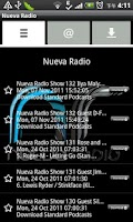 Screenshot of Nueva Radio