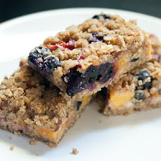 Blueberry-Peach Oat Crumble Bars