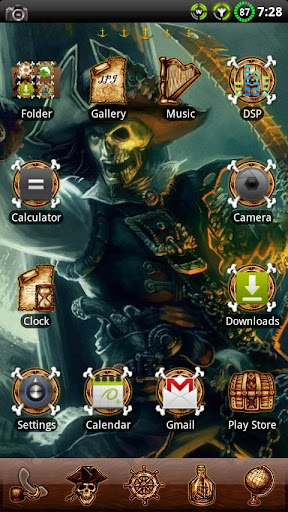 Pirate GO Launcher EX Theme