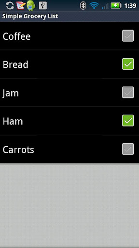 Simple Grocery List