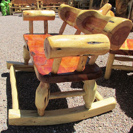 Just a rockin! by Joyce Thomas - Artistic Objects Furniture ( chair rocker, just a rockin, just rocking, rocking chair,  )