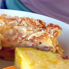 Haupia Macadamia Nut Bread Pudding