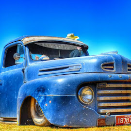 Old Skool by Kristy Lamaro - Transportation Automobiles ( #blue, #old, #lowrider, #olde, #vintage, #ute, #summer,  )