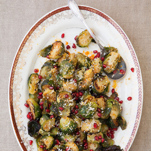 Brussels Sprouts with Horseradish and Pomegranate Seeds