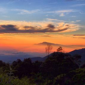 Good Morning by Ngatmow Prawierow - Instagram & Mobile Other ( blue sky, sikunir, indonesia, sunrise, orange sky, landscape, nokian8, golden hour, skyscape )