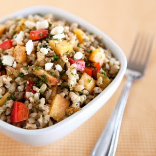 Peach & Walnut Barley Salad