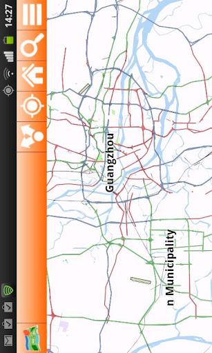 Guangzhou Offline mappa Map