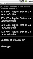 Screenshot of MBTA Alerts