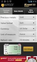 Screenshot of Gold Live! Widget