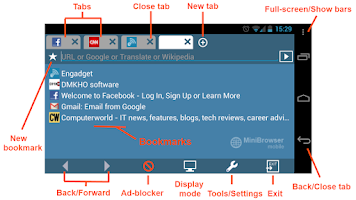 Screenshot of MiniBrowser BETA