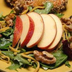 Apple Cheddar Salad With Maple Dressing