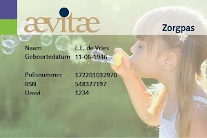 Screenshot of Aevitae Zorg