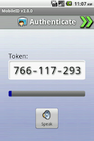 Screenshot of MobileID