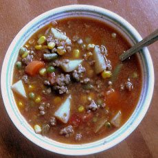 Zippy Hamburger Soup