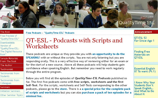 QualityTime-ESL Podcasts
