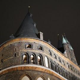Holstentor Lübeck  by Brynhilde Bålerud - Buildings & Architecture Architectural Detail ( Architecture, Ceilings, Ceiling, Buildings, Building )