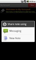 Screenshot of My Notepad