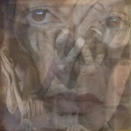 Despair by Linaee Hultquist - Digital Art Abstract ( abstract, despair, sorrow, grief, loss, remorse )