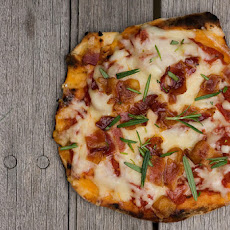 Grilled Pizza with Bacon and Rosemary