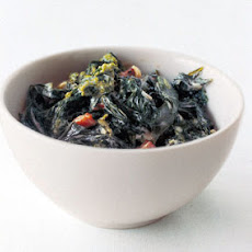 Brown-Butter Creamed Winter Greens