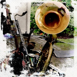 Jazz Band by Andrew Robinson - Digital Art Things ( jazz, musical instruments )
