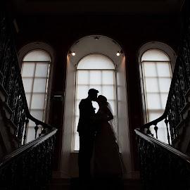 by Alison Gaudion - Wedding Bride & Groom ( bride and groom silhouette, bride and groom museum )