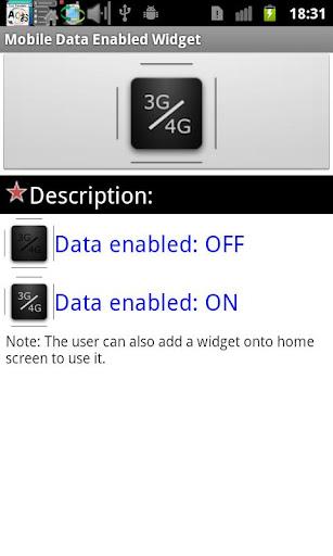 行動網路3G 4G開關小工具