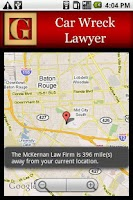 Screenshot of Car Wreck Lawyer