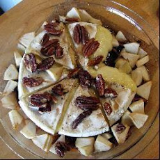 Apple and nut baked Brie