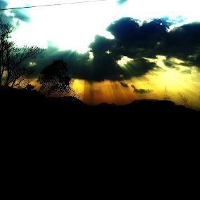 by Uthpala Kuruppuarachchi - Landscapes Cloud Formations ( clouds, sunset, sunrays )