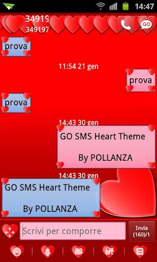 GO SMS 하트 테마