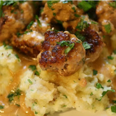 Easy Swedish Meatballs and Smashed Potatoes