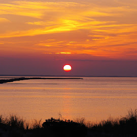 Sunset at Cape Henlopen  by Wendy Oster - Novices Only Landscapes ( sunsets, beach )