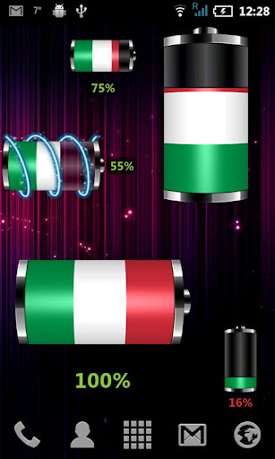 【免費個人化App】Italy: Flag Battery Widget-APP點子
