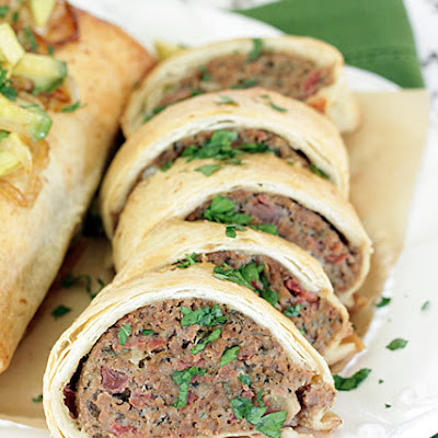 Mini Tex-Mex Meatloaf Burritos