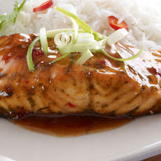 Salmon With Sticky Chilli Sauce