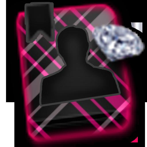 GO CONTACTS-DiamondPlaidBlack LOGO-APP點子