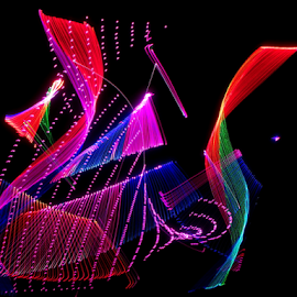 Look at my curves ! by Jim Barton - Abstract Patterns ( laser light, colorful, light design, laser design, laser, laser light show, light, curves, science )