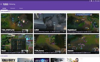 Screenshot of Twitch
