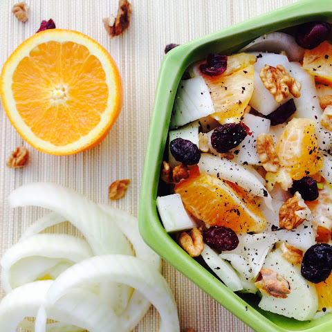 Fennel, Orange, Cranberries And Walnuts Salad