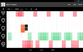 Screenshot of Tablet Drums