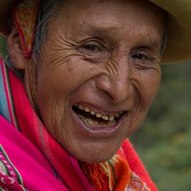 Man Laughing  by Janet Marsh - People Street & Candids ( old, peru, man,  )