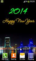 Screenshot of 2014 Fireworks Happy New Year