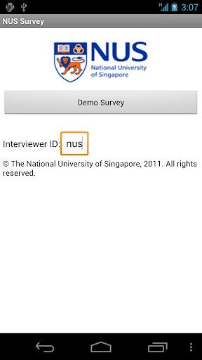 NUS Survey