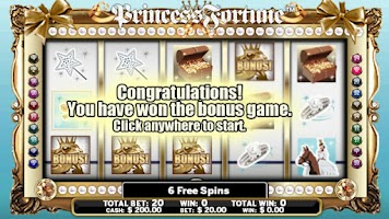 Screenshot of Slot Machine Princess-Fortune