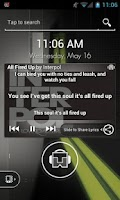 Screenshot of TuneWiki Lyric Lock Screen