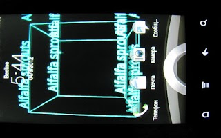 Screenshot of LiveWallpaper Cube of Words