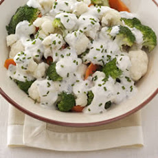 Veggies with Creamy Chive and Onion Sauce