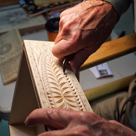 Wood Carver by Alan Roseman - Artistic Objects Other Objects ( hand work, skill, turner, craftsman, carving, woodwork, woodworker,  )