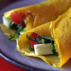 Crispy Vietnamese Veggie Crepes with Fresh Basil